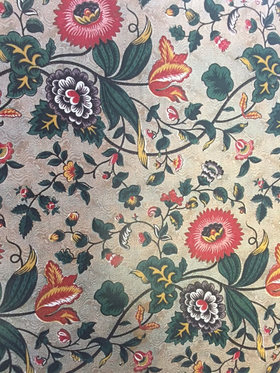 3 - Roller printed cotton with colour in-fill, French c.1800s