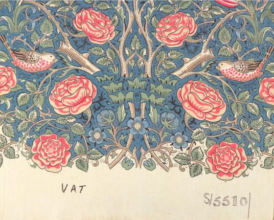 4 - Tudor Rose, designed by William Morris and printed by Warner & Sons