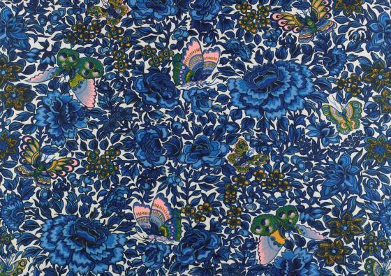 Yentai, printed cotton, Warner & Sons, designed by Eddie Squries, 1966